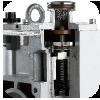 Automatyczny 2-stopniowy system zabezpieczający przed  migracją oparów oleju do układu próżniowego